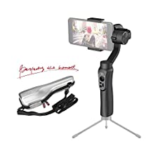 Zhiyun Smooth-Q 3-Axis Gimbal Stabilizer for Smartphone within 7.1oz /6 inches, i.e. iphone 7 plus/ 6 plus, Samsung Galaxy, Blackberry,and Gopro, 12hrs Run-Time, No More Counterweight