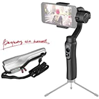 Zhiyun Smooth-Q 3-Axis Gimbal Stabilizer for Smartphone up to 6, i.e. Iphone 7plus/6plus, Samsung Galaxy, and Gopro, 12hrs Run-Time, No Counterweight, Buttons to Photo/Record/Zoom