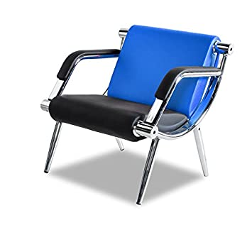 Bestmart INC PU Leather Office Reception Chair Executive Side Waiting Room Visitor Guest Sofa Blue, 2