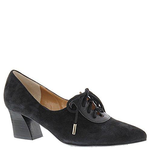 J.Renee Womens Ellam Suede Peep Toe Classic Pumps, Black Leather, Size 7.0