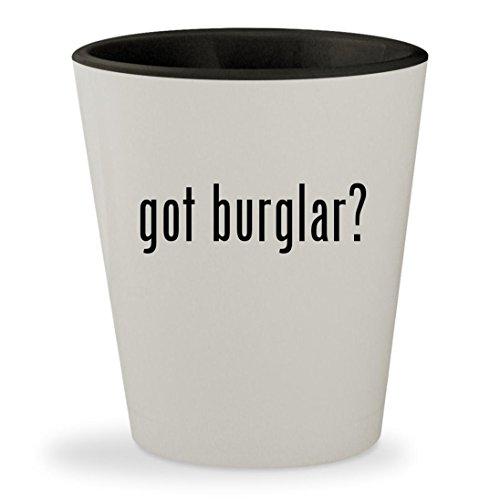 [got burglar? - White Outer & Black Inner Ceramic 1.5oz Shot Glass] (Cat Burglar Costume Diy)