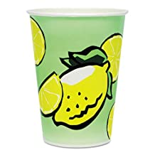 SCC32TDN - Solo Double Poly Paper Lemonade Cups, 32 Oz, Cold, Green/yellow