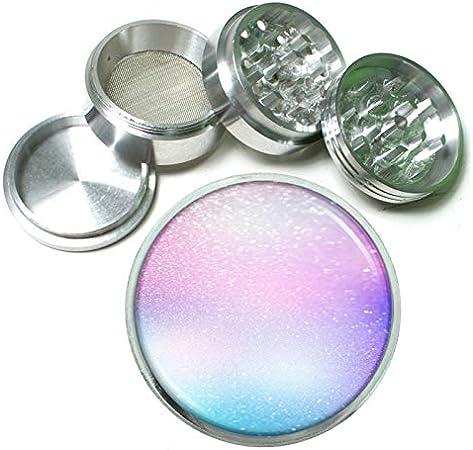 Silver iridescent glitter grinder