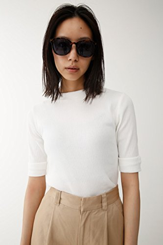 (マウジー) moussy Tシャツ 2WAY ZIP UP HALF SLEEVE 010BSF80-0550 レディース