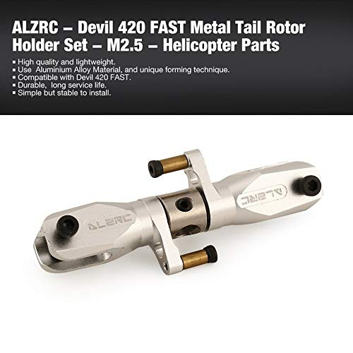 Accessories ALZRC - for Devil 420 Fast Metal Tail Rotor Holder Set - M2.5 Helicopter Lightweight Spare Parts Accessories Component ht - (Ship CN)