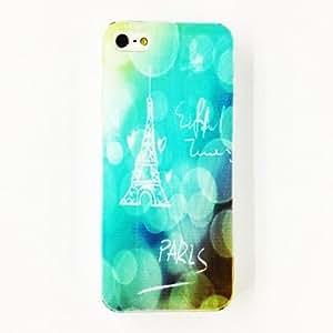Paris Eiffel Tower Pattern TPU Soft Case for iPhone 4/4S , Multicolor