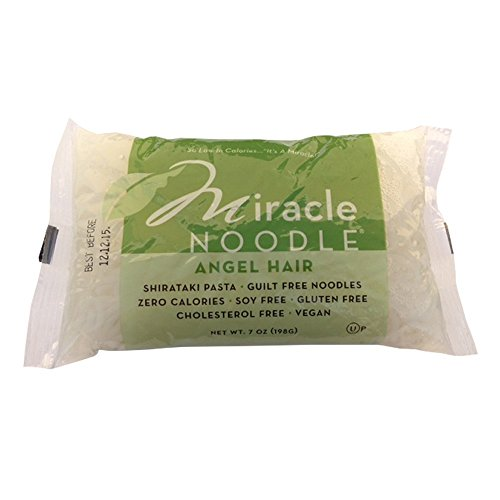 Miracle Noodle Shirataki Zero Carb, Gluten Free Pasta, Angel Hair for Passover, 6 Count