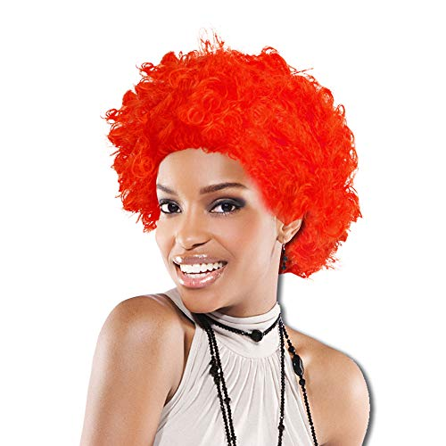 Afro Costume Wig 70's 80's Disco Theme (Red)