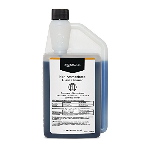 (AmazonBasics Professional Non-Ammoniated Glass Cleaner, Concentrate, Dilution Control, 32 Ounces, 6-Pack )