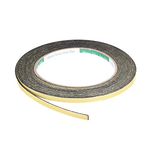 uxcell Foam Seal Tape, 5mm Wide 1mm Thick 16.4 Feet Long Adhesive Weather Strip