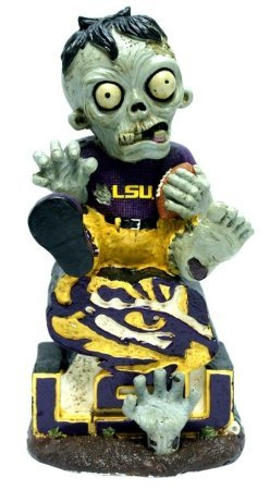 Forever Collectibles LSU Tigers Zombie On Logo with Football Figurine