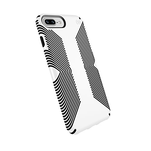 Speck Products Presidio Grip Case for iPhone 8 Plus (Also fits 7 Plus and 6S/6 Plus), White/Black