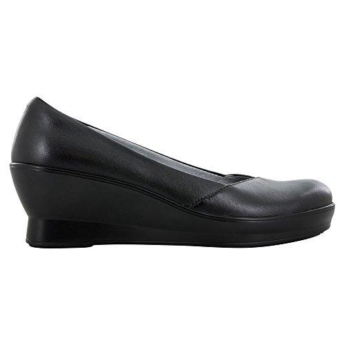 Alegria Womens, Flirt Mid Wedge Shoe Black