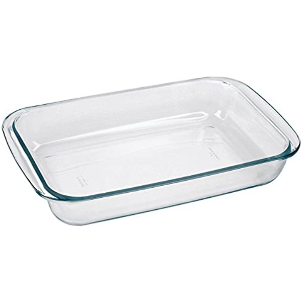 Amazon Com Marinex Bakeware Medium Rectangular Glass Roaster 13 5 8 X 8 1 8 X 2 Baking Dishes Kitchen Dining
