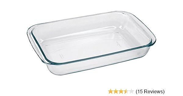 9-5//8 x 8-3//4 x 2 Cazuela de cristal Marinex Bakeware Square Glass Roaster