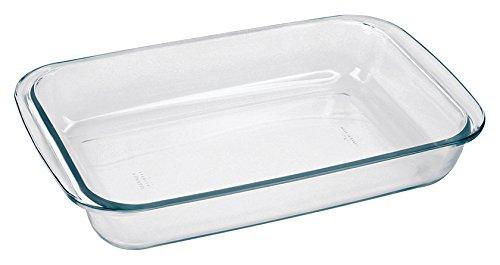 Borella Casalighi Marina Rectangular Roasting Dish, Pyrex, Transparent, 30x 18x 5cm GD16532011