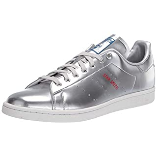 adidas Originals mens Stan Smith Sneaker, Silver Metallic/Silver Metallic/Crystal White, 13.5 US