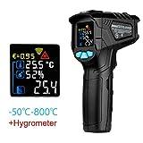 QIANLAI IR01 Digital Thermometer Humidity Meter Infrared Thermometer Hygrometer Temperature Humidity Meter Pyrometer,IR01A