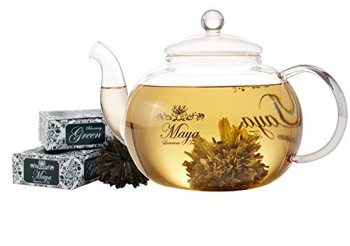 MAYA LUXURIOUS TEA Blooming Green, Pack of 12