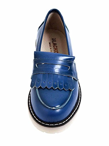 Blackone Italy Moccasin Shoes Slippers Ladies Shoes 9506 Blue Blue WhMhVWC