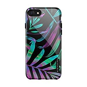 iPhone 8 & iPhone 7 & iPhone SE [2020 Released] case Tropical Leaves, Akna Collection Flexible Silicon Cover for iPhone…