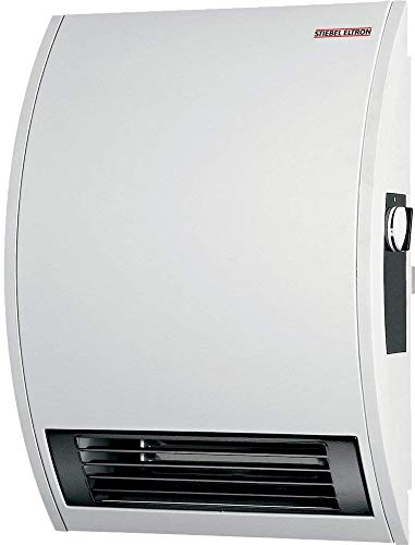Stiebel Eltron 074058 Model CK 15 E Wall-Mounted Electric Fan Heater, 120 Volts, 1500 Watts, 12.5A, 5118 Btu/hr Rated Output, 18W Shaded Pole Motor, Extremely Quiet Operation at 49.7 dB(a)