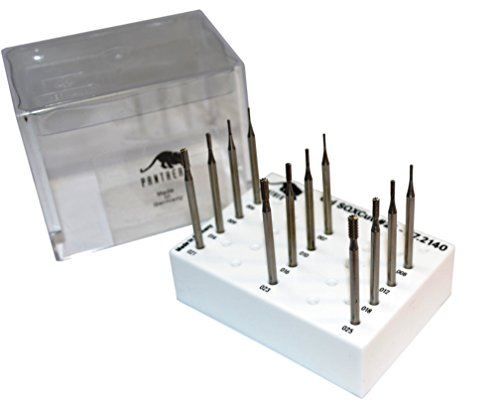 Grobet Panther Jewelers Burs Cylinder Cross Cut #21 Set of (Cross Cut Bur)