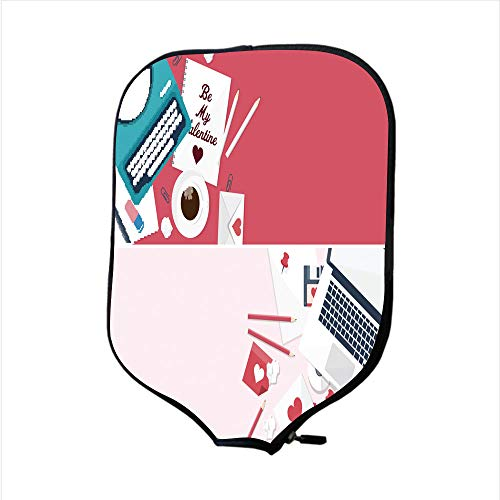 Neoprene Pickleball Paddle Racket Cover Case/Flat Background for sale  Delivered anywhere in USA
