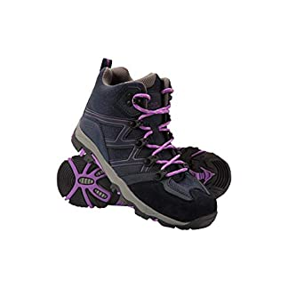 Mountain Warehouse Oscar Kids Walking Boots – Suede Childrens Running Shoes, Sturdy Grip, Padded Ankles Footwear, Strong… 1