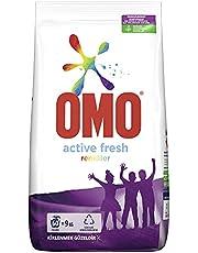 Omo Active Fresh Toz Çamaşır Deterjanı Renkliler İçin Renklilerinizi Koruyarak En Zorlu Lekeleri İlk Yıkamada Çıkarır 9 KG 60 Yıkama 1 Adet