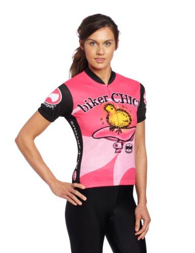 4059f505a Amazon.com   World Jerseys Women s Biker Chick Cycling Jersey   Women S Biking  Apparel   Clothing