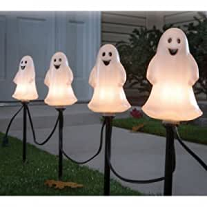 Set of 4 Sylvania Ghost Halloween Pathway Marker Lights (15 Inches Tall)