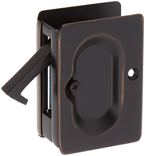 Premium Quality Mid-Century Pocket Door Passage Set In Oil-Rubbed Bronze - Edge Pull Oil Rubbed Bronze