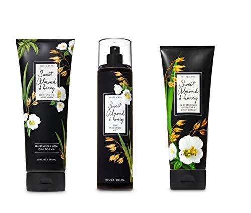 Sweet Almond & Honey 3 pc. Gift Set - Moisturizing Body Wash, Fine Fragrance Mist and Ultra Shea Body Cream - 2019