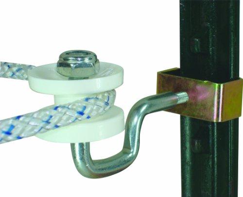 (Field Guardian T-Post Polyrope Corner Insulator, White)