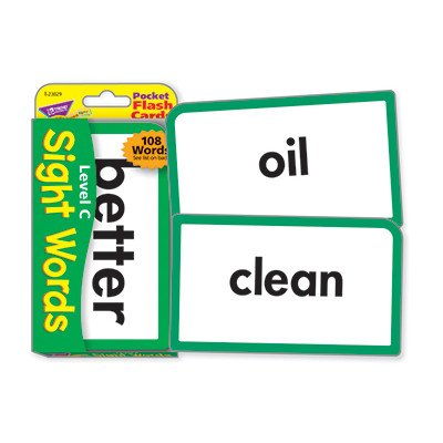 Sight Words Level C Flash Cards [Set of 3] -