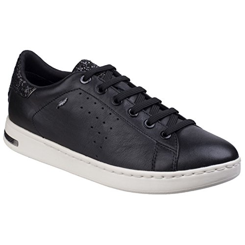 Geox Womens/Ladies Jaysen Metallic Flat Sneakers (8 US) (Black) (Flats Geox Leather)