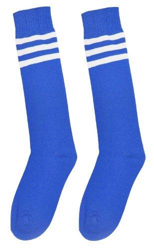Calcetines de deporte de Westeng, unisex, altos, de algodón a rayas,