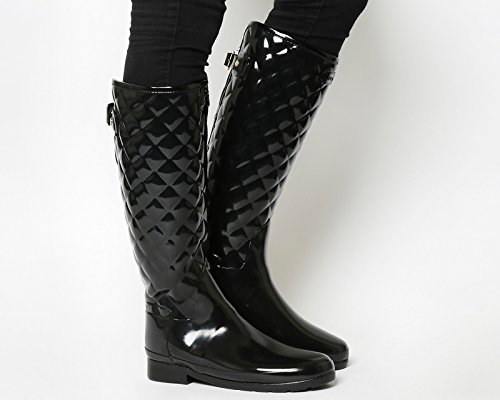 Refined Black Hunter Tall Quilted Original Gloss Boot HnH45q8