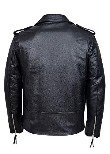 BRANDO BLACK' Veste classique en cuir pour homme