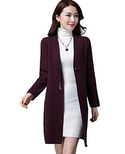 Violett Violett Puro Coat Lunga Primaverile Reeseiy Casual Casual Giubotto Donna Elegante Chic Autunno xIwfPzq