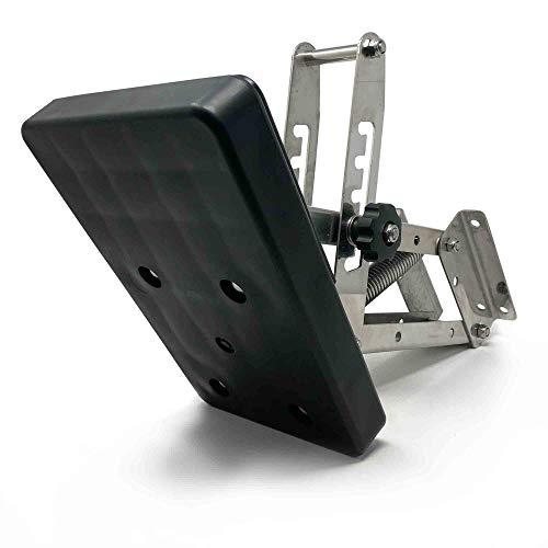Five Oceans Adjustable Outboard Motor Bracket, Black 20 Hp FO-4204