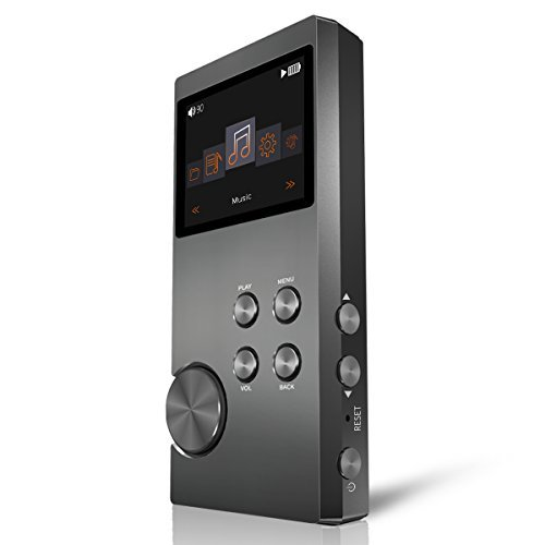 Bassplay High Resolution Audio Player, P3000 Lossless Portable MP3 Music Player 16GB (Space Gray)