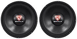 """(2) Rockville RVP12W8 12"""" 1200 Watt Peak/600 Watt RMS 8-Ohm DJ/PA Replacement Raw Subwoofers With 150 Oz Magnets For Strong Bass Response by Rockville"""