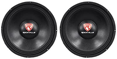 "(2) Rockville RVP12W8 12"" 1200 Watt Peak/600 Watt RMS 8-Ohm DJ/PA Replacement Raw Subwoofers With 150 Oz Magnets For Strong Bass Response by Rockville"