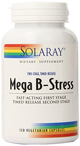 Solaray Mega B Stress Two Stage Timed Release Supplement, 12