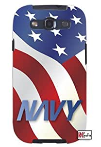US Navy American Flag United States Unique Quality Soft Rubber TPU Case for Samsung Galaxy S4 I9500 - White Case