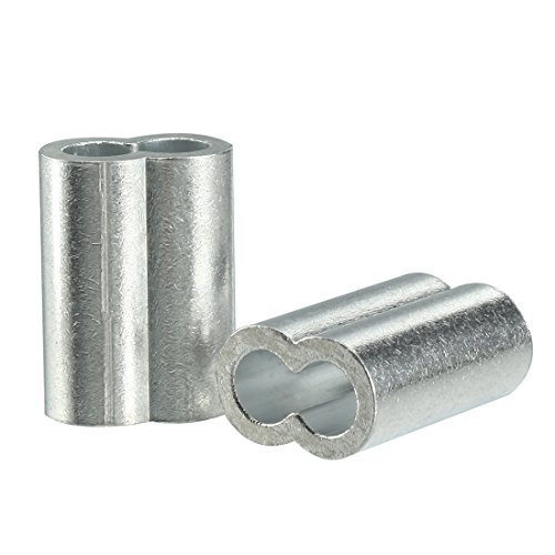 - uxcell 10mm 3/8-inch Cable Wire Rope Aluminum Sleeves Clip Crimping Loop 10pcs