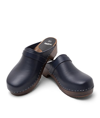 Sandgrens Swedish Wooden Clogs for Men with Leather Upper | Malmö Navy outlet find great sale pre order for sale online sale online shopping vyFTI