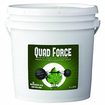 Amazon.com: Polvo de proteína de cáñamo Quad fuerza 5LB ...